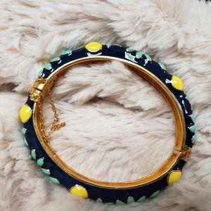 J. Crew enamel floral bangle bracelet
